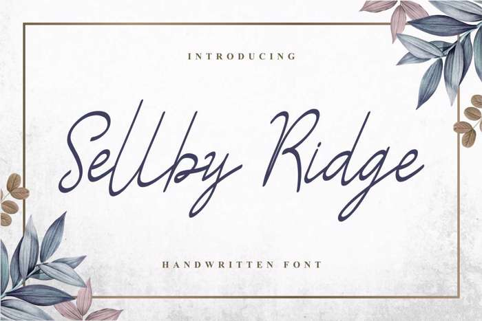 Sellby Ridge Font poster