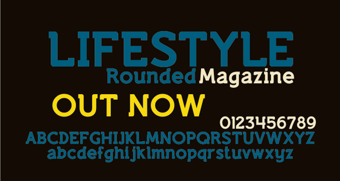Lifestyle Rounded M54 Font poster