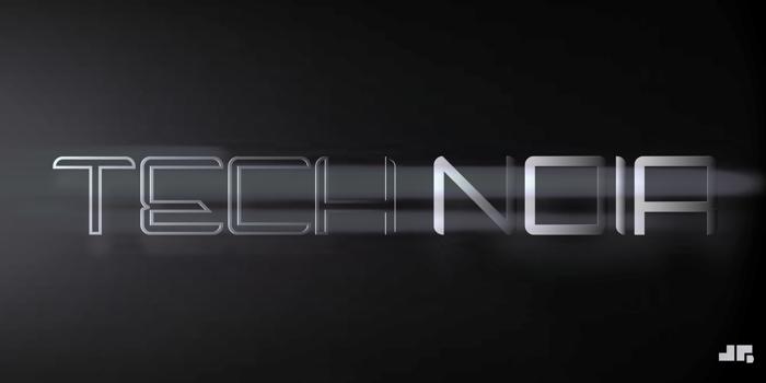 Tech Noir Font poster