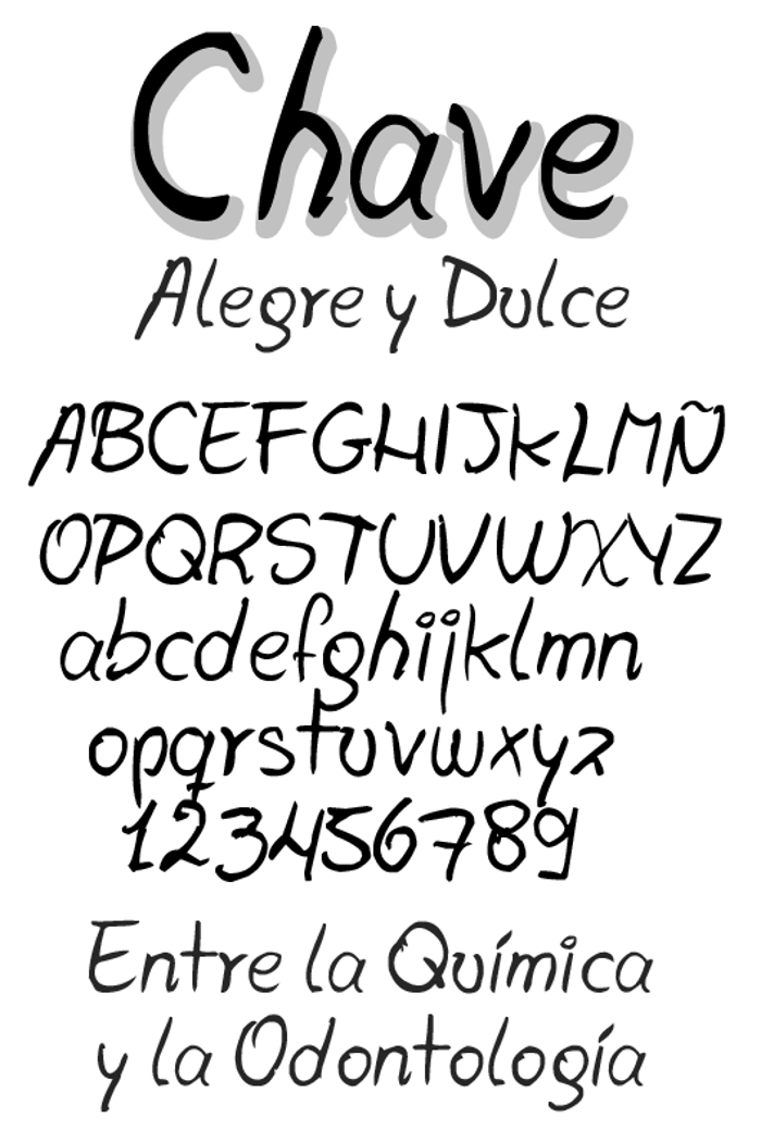 Chave Font poster