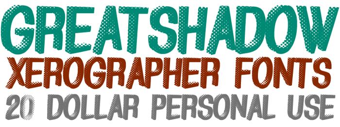 GreatShadow Font poster