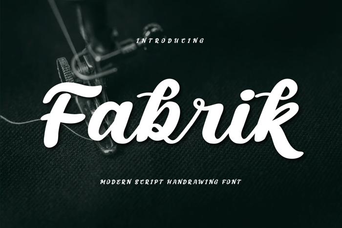 Fabrik Font poster