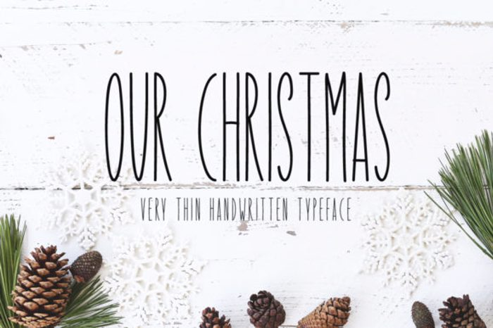 Our Christmas Font poster