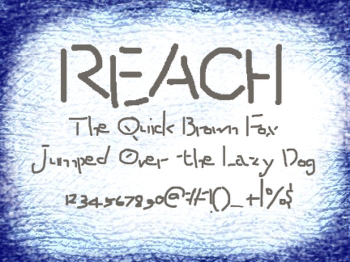 Reach Font poster