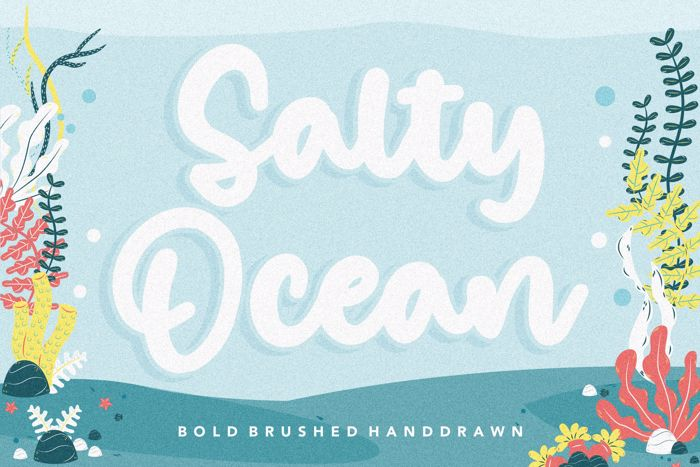 Salty Ocean Font poster