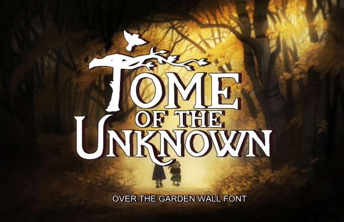 Tome Of The Unknown Font poster