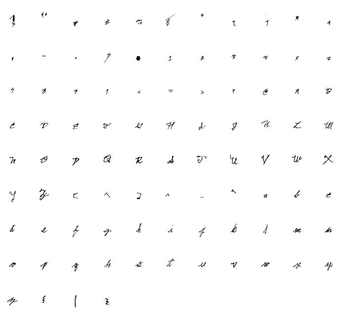 Irregular Littles Font poster
