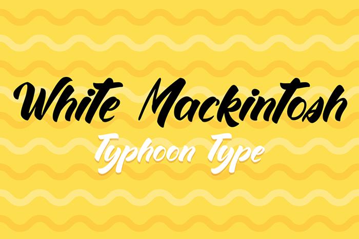White Mackintosh Font poster