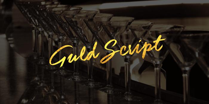 Guld Script Color Font poster