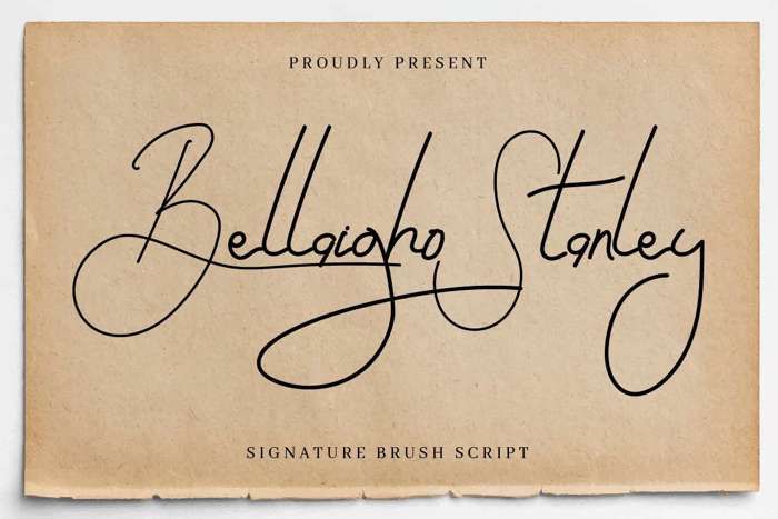 Bellaigho S Font poster