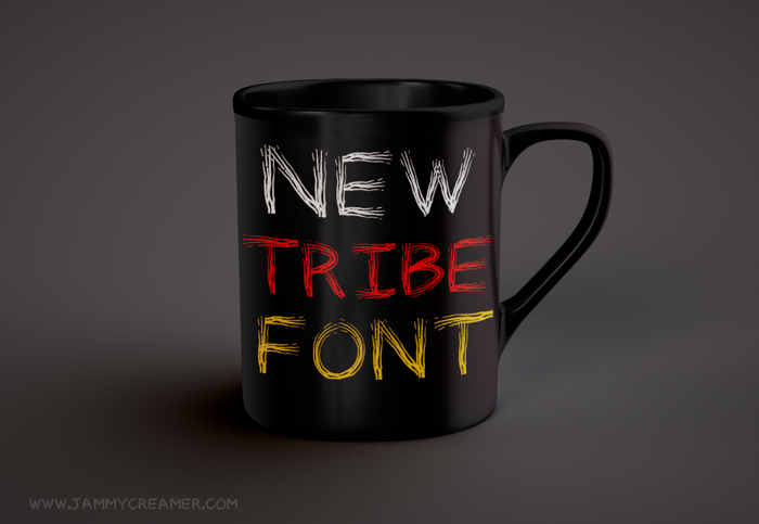 Tribal Font poster