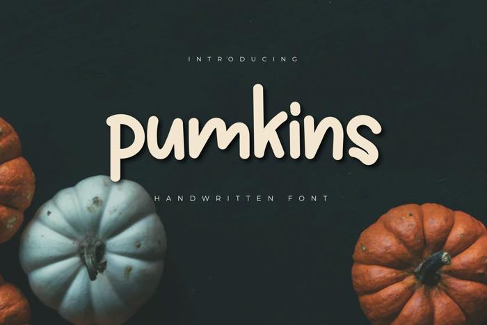 Pumkins Font poster