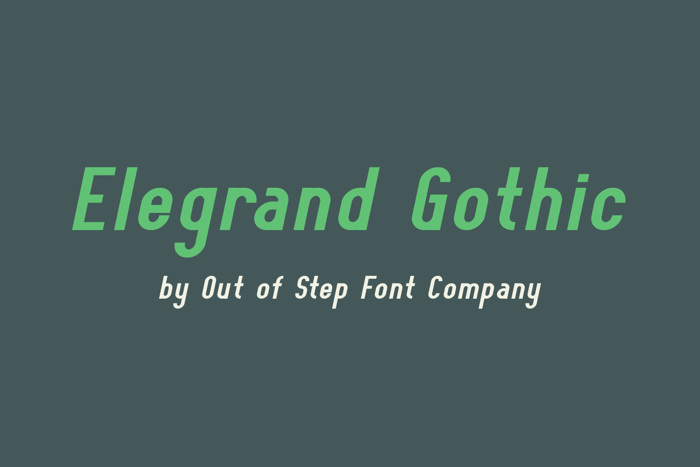Elegrand Gothic Font poster