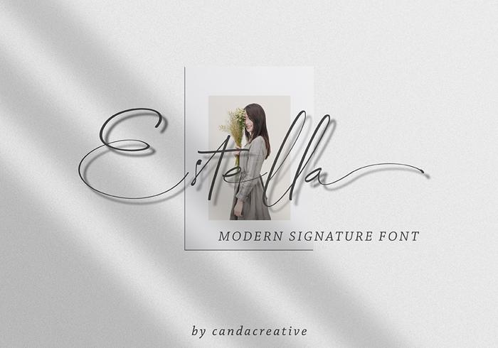 Estella Font poster