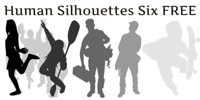 Human Silhouettes Free Six Font poster