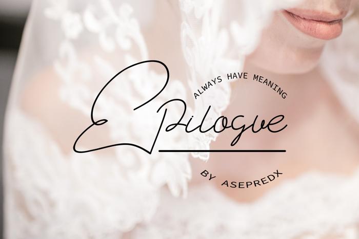 Epilogue Font poster