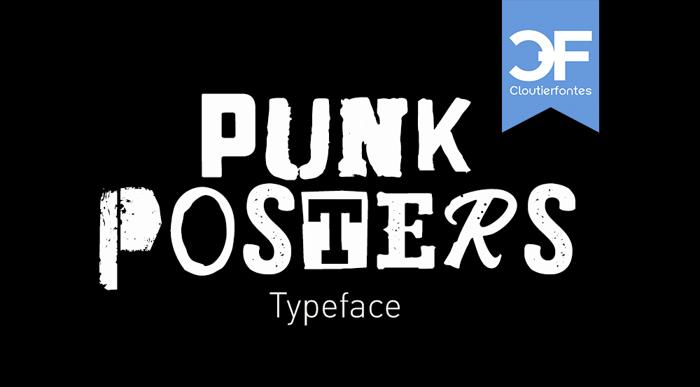 CF Punk Posters Font poster