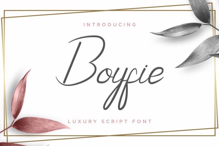 Boyfie Font poster
