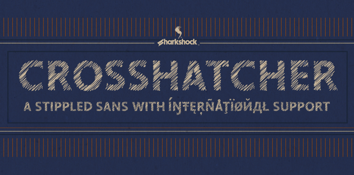Crosshatcher Font poster