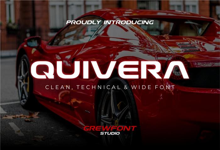 Quivera Font poster