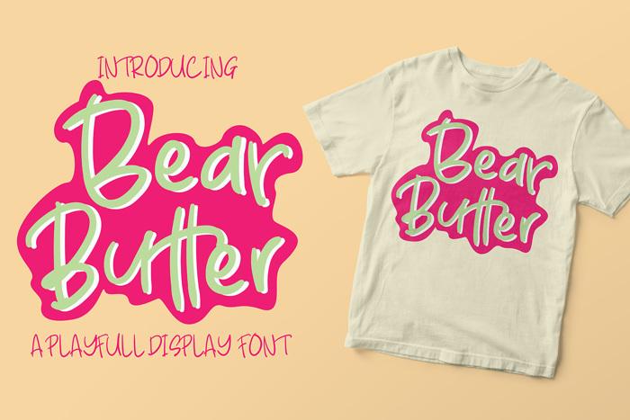 Bear Butter Font poster