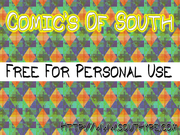 Comic's of South St Font poster