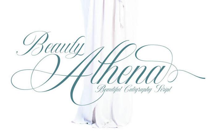 Beauty Athena Font poster