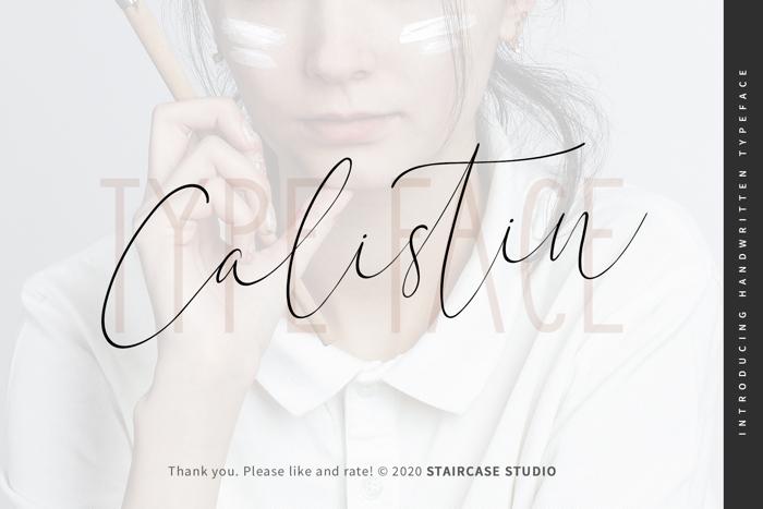 Calistin Font poster