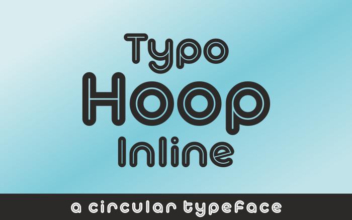Typo Hoop Inline Demo Font poster