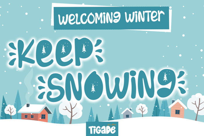 Keep Snowing Font poster
