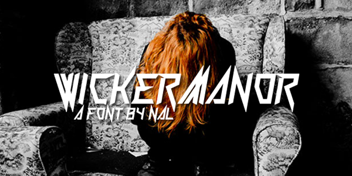 Wickermanor Font poster