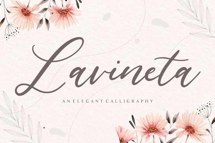 Lavineta Font poster