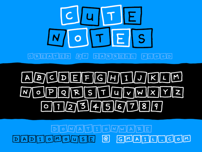 Cute Notes Font poster