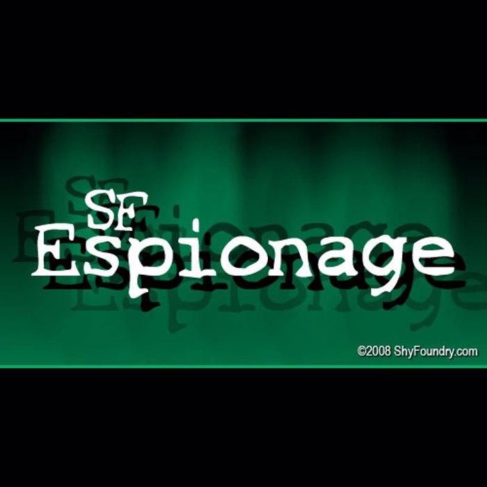 SF Espionage Font poster