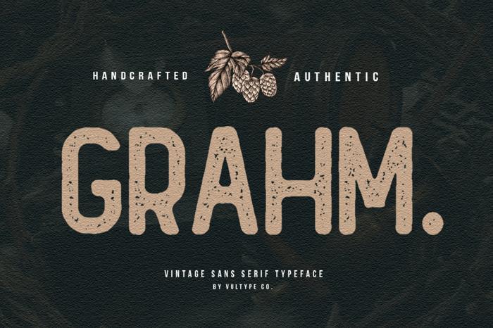 GRAHM Sans Serif Font poster