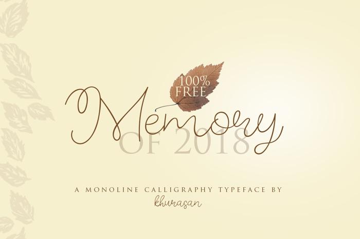 Memory of 2018 poster