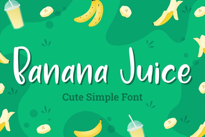 Banana Juice Font poster