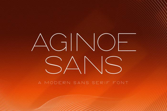 Aginoe Sans Font poster