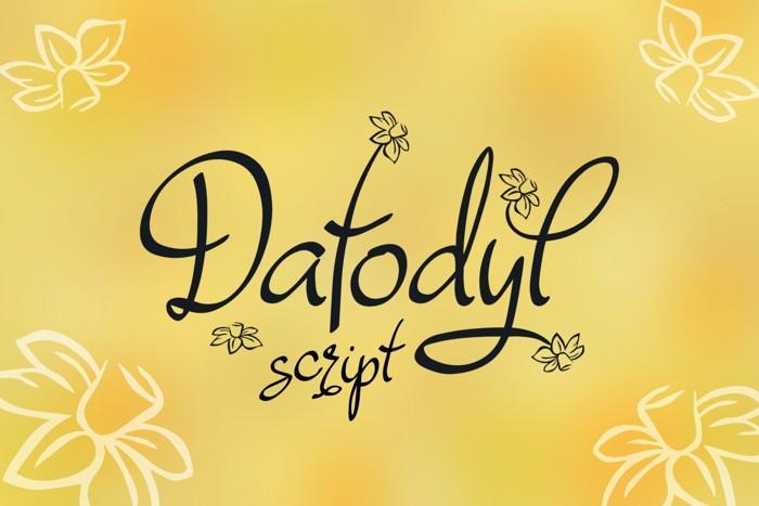 Dafodyl Font poster