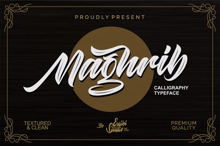 Maghrib Font poster