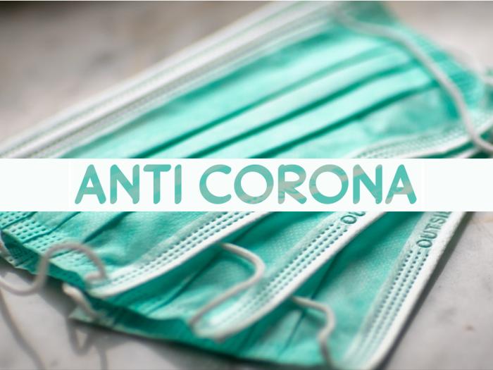 a Anti Corona Font poster