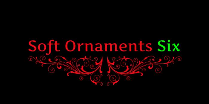 Soft Ornaments Six Font poster