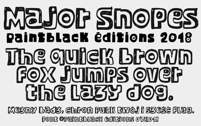 Major Snopes Font poster