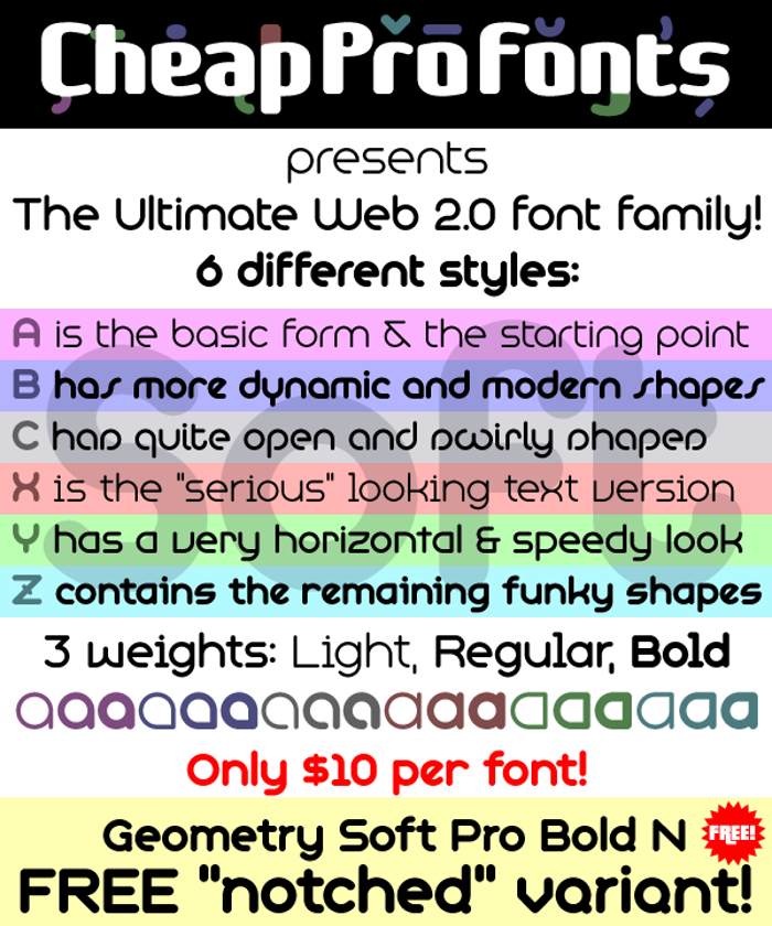 Geometry Soft Pro Font poster