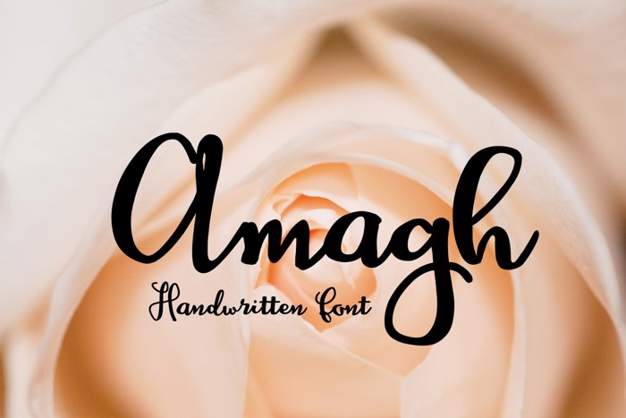 Amagh Font poster