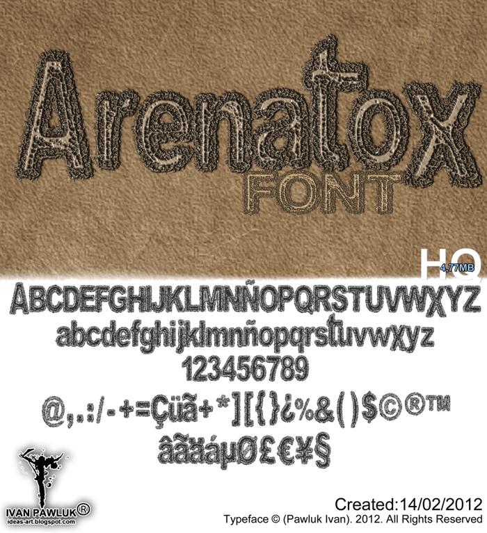 Arenatox font poster
