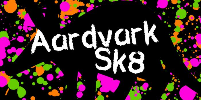 Aardvark Sk8 Font poster