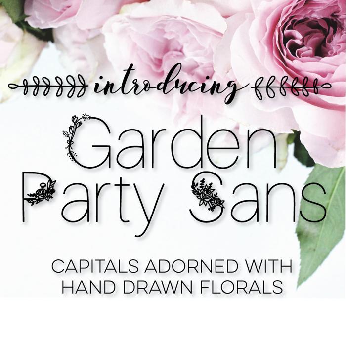 GardenPartySans Font poster