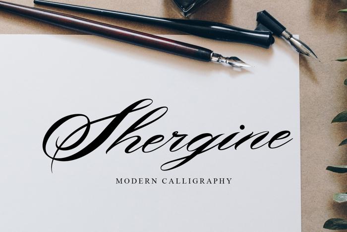 Shergine Font poster