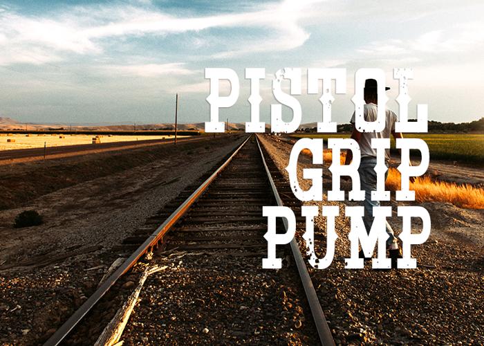 Pistol Grip Pump Font poster